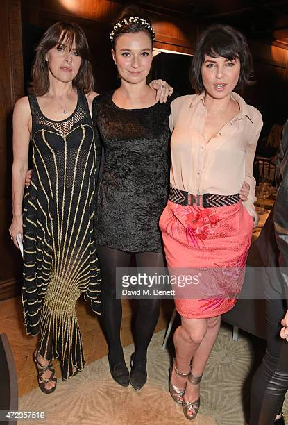 Gemma Peppe Gizzi Erskine and Sadie Frost attend the Hepatitis C Trust charity party hosted by Sadie Frost at The Groucho Club on May 6 2015 in...