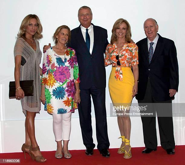 Gemma Ruiz Cuadrado Cuca Garcia de Vinuesa and Silvia Tortosa attend '2011 Clarins Awards' at Villamagna Hotel on July 12 2011 in Madrid Spain