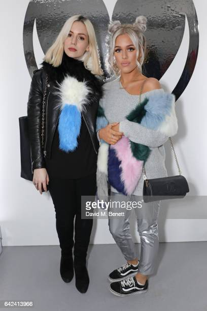 Gemma Styles and Lottie Tomlinson attend the Charlotte Simone presentation during the London Fashion Week February 2017 collections at The Vinyl...