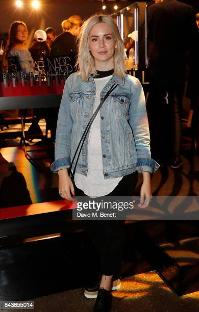 Gemma Styles attends the launch of the Refinery29 and NARs cosmetics 'Power Mouth' exhibition at Protein Studios on September 7 2017 in London England