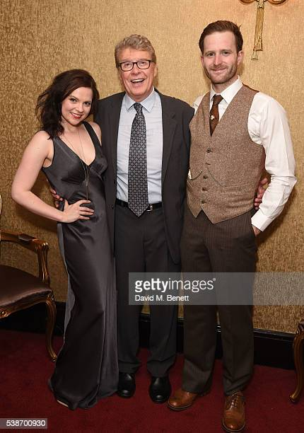 Gemma Sutton Michael Crawford and Stuart Ward attend the press night of 'The GoBetween' at The Apollo Theatre on June 7 2016 in London England