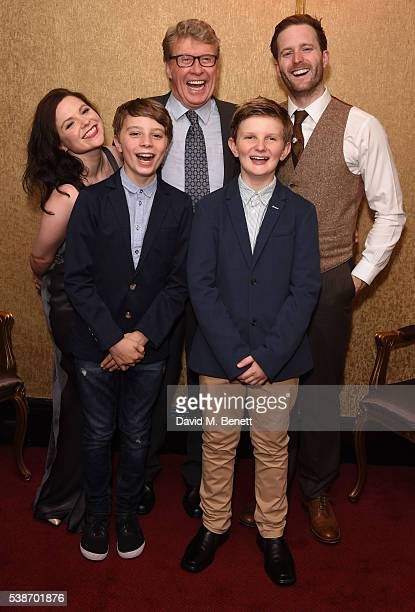 Gemma Sutton William Thompson Michael Crawford Archie Stevens and Stuart Ward attend the press night of The GoBetween at The Apollo Theatre on June 7...
