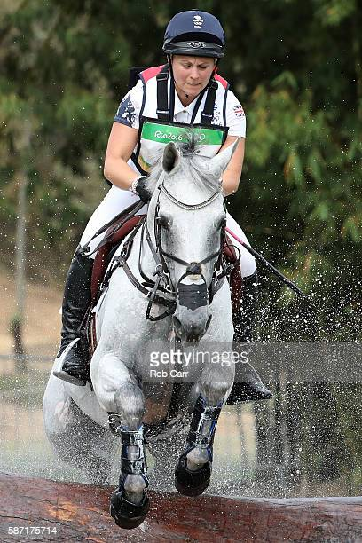 Gemma Tattersall of Great Britain riding Quicklook V clears a jump during the Cross Country Eventing on Day 3 of the Rio 2016 Olympic Games at the...