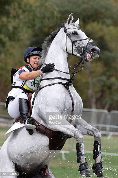 Gemma Tattersall of Great Britain riding Quicklook V competes during the Cross Country Eventing on Day 3 of the Rio 2016 Olympic Games at the Olympic...