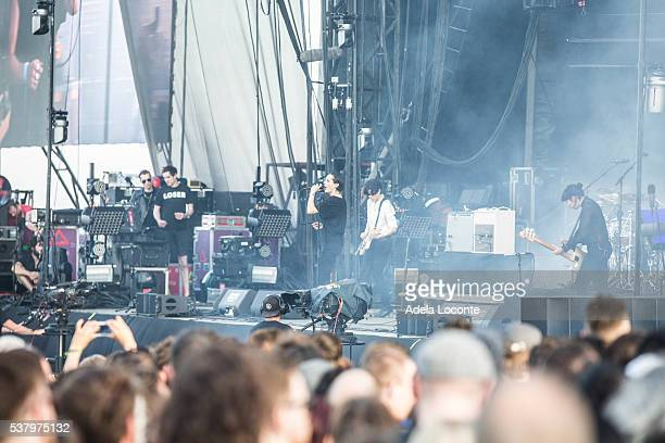 Gemma Thompson Jehnny Beth Fay Milton and Ayse Hassan of Savages perform at Primavera Sound Day 3 on June 3 2016 in Barcelona SpainÊ