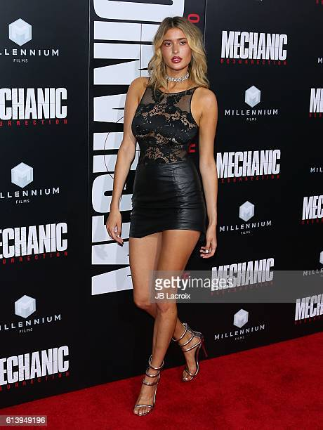 Gemma Vence attends the premiere of Summit Entertainment's 'Mechanic Resurrection' on August 22 2016 in Hollywood California