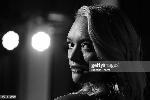 Gemma Ward arrives ahead of a YSL beauty launch at Sydney Town Hall on April 14 2016 in Sydney Australia