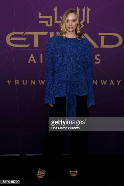 Gemma Ward arrives at the 2017 Australian Fashion Laureate Awards on November 9 2017 in Sydney Australia