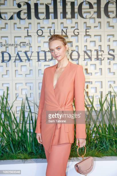 Gemma Ward attends 2018 Caulfield Cup Day at Caulfield Racecourse on October 20 2018 in Melbourne Australia