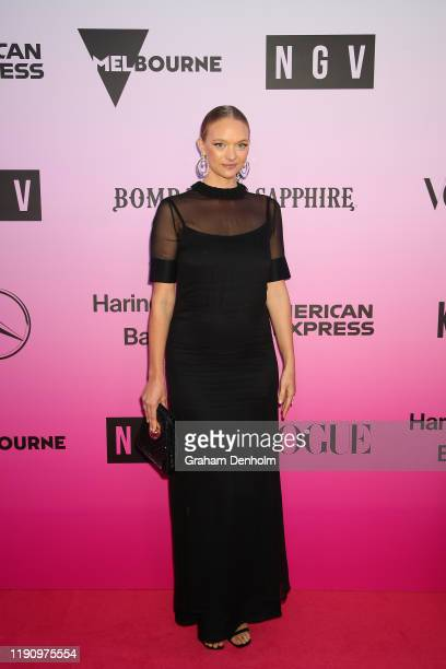 Gemma Ward attends the NGV Gala 2019 at the National Gallery of Victoria on November 30 2019 in Melbourne Australia