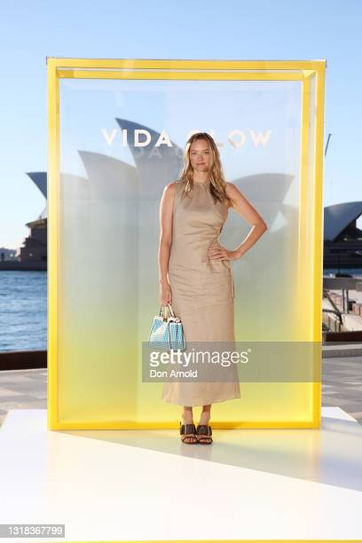 Gemma Ward attends the Vide Glow global launch at Sydney Harbour on May 17, 2021 in Sydney, Australia.
