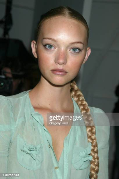 Gemma Ward during Olympus Fashion Week Spring 2006 Carlos Miele Backstage and Front Row at Bryant Park in New York City New York United States