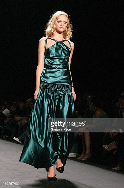 Gemma Ward during Olympus Fashion Week Spring 2006 Fashion For Relief On the Runway at Bryant Park in New York City New York United States