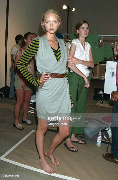 Gemma Ward during Olympus Fashion Week Spring 2006 Roland Mouret Sponsored by Motorola Front Row and Backstage at Skylight Studios in New York City...