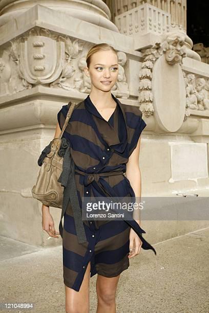 Gemma Ward during Paris Fashion Week Spring/Summer 2007 Chanel Arrivals at Grand Palais in Paris France