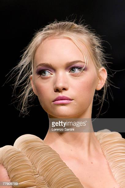 Gemma Ward on the catwalk for Valentino during Paris Fashion Week Spring/Summer 2008 ready to wear in Paris France