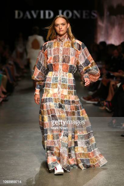 Gemma Ward showcases designs by Zimmermann during the David Jones AW19 Season Launch 'The Art of Living' at The Museum of Old and New Art on February...