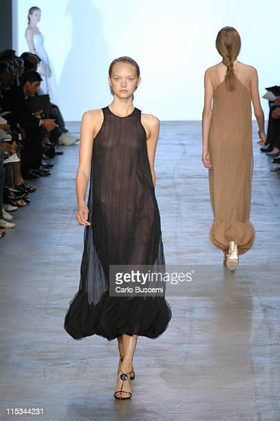 Gemma Ward wearing Calvin Klein Spring 2006 during Olympus Fashion Week Spring 2006 Calvin Klein Runway at Milk Studios in New York City New York...