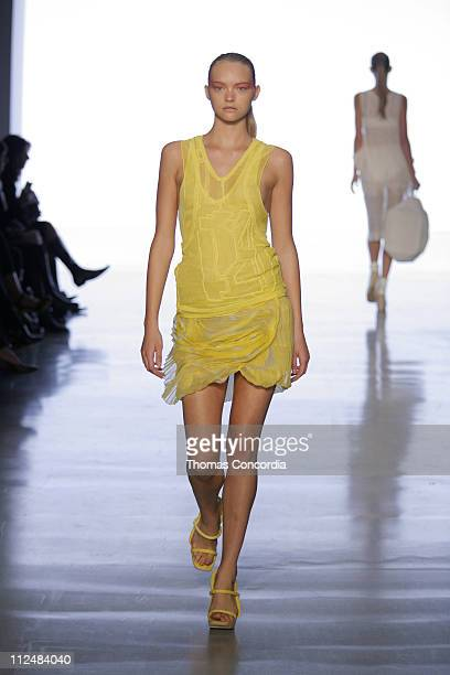 Gemma Ward wearing Calvin Klein Spring 2007 during Olympus Fashion Week Spring 2007 Calvin Klein Runway at 205 West 39th Street in New York New York...