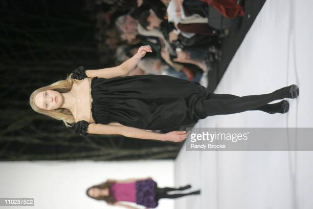 Gemma Ward wearing Marc Jacobs Fall 2005 during Olympus Fashion Week Fall 2005 Marc Jacobs Runway at New York State Armory in New York City New York...