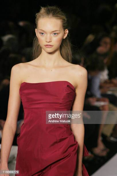 Gemma Ward wearing Marc Jacobs Spring 2005 during Olympus Fashion Week Spring 2005 Marc Jacobs Runway at Pier 54 in New York City New York United...