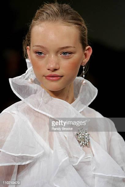 Gemma Ward wearing Ralph Lauren Spring 2005 during Olympus Fashion Week Spring 2005 Ralph Lauren in New York City New York United States