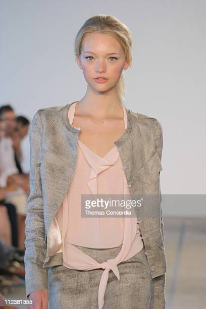 Gemma Ward wearing Roland Mouret Spring 2005 during Olympus Fashion Week Spring 2005 Roland Mouret Runway at West 49th Street in New York City New...