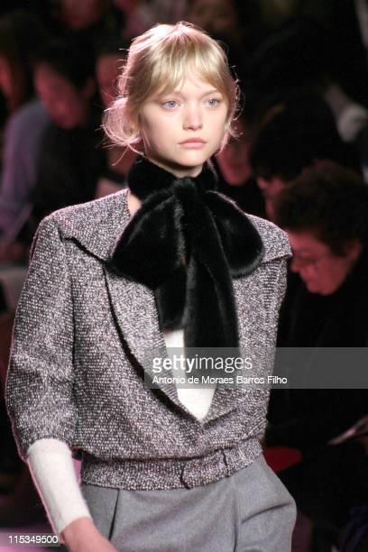 Gemma Ward wearing Yves Saint Laurent Ready to Wear Autumn/Winter 2006