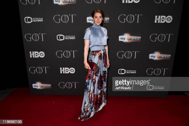 Gemma Whelan arrives at the Game of Thrones season finale premiere at the Waterfront Hall on April 12 2019 in Belfast UK