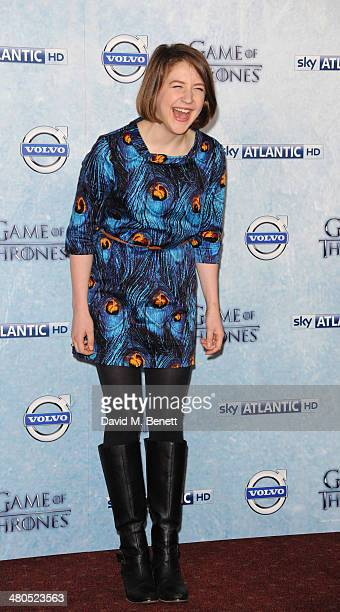 Gemma Whelan attends the Season 4 premiere of 'Game of Thrones' at The Guildhall on March 25 2014 in London England