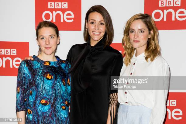 Gemma Whelan Suranne Jones and Sophie Rundle attend the BBC One's Gentleman Jack photocall at Ham Yard Hotel on May 07 2019 in London England