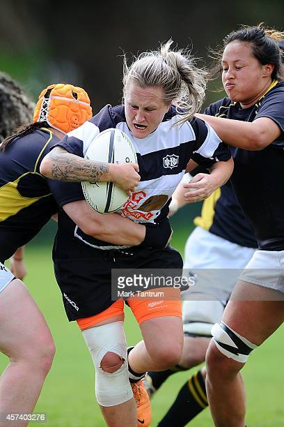 Gemma Woods during week 9 of the Women's Provincial Championship match between Wellington and Hawke's Bay at Porirua Park on October 18 2014 in...