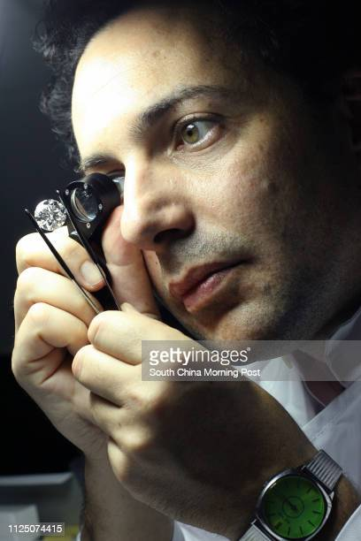 Gemologist Marc Brauner examining and inspecting jewellery 18 SEPTEMBER 2007