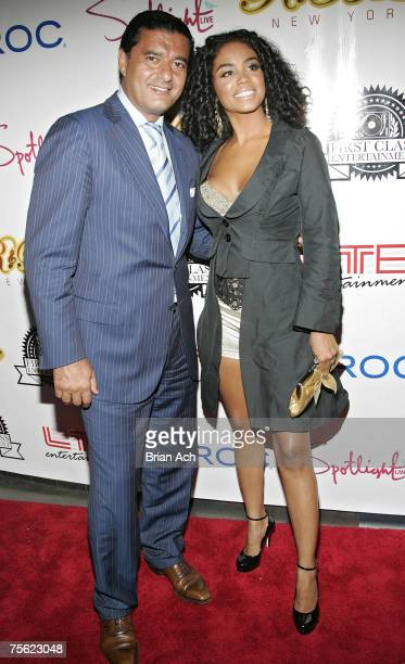 """Gemsmith Jacob the Jeweler and Singer Claudette Ortiz walk the red carpet at the """"R & B Live Concert Series Presents Mya and Claudette Ortiz"""" concert..."""