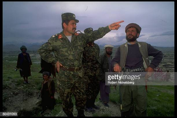 Gen Abdul Rahman cmdr of Dostamled Uzbek militia allied w interim govt in internecine war w dissident mujahedin of Hekmatyar's HezbiIslami