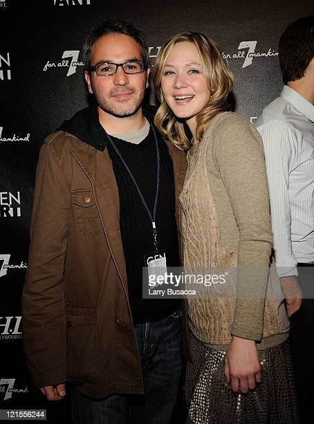 Jeffrey Abramson and actress Louisa Krause at 7 For All Mankind and Gen Art Celebrate 7 Fresh Faces in Film at the Hollywood Life House on January 16...