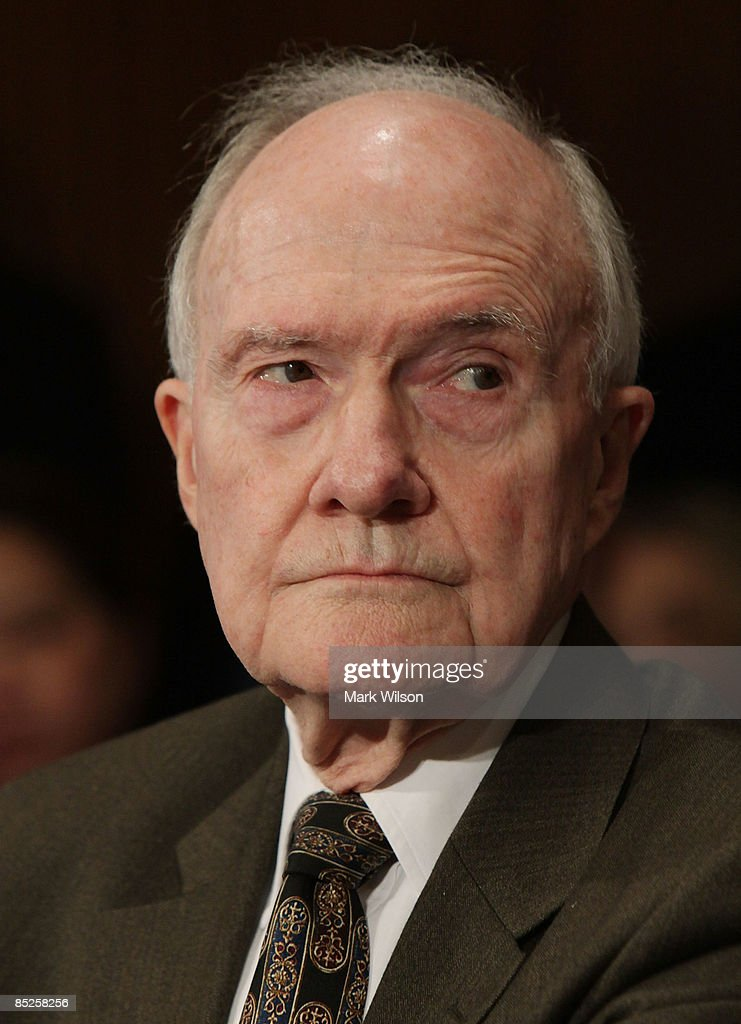Gen. Brent Scowcroft, former national security adviser, participates in a Senate Foreign Relations Committee hearing on Capitol Hill on March 5, 2009 in Washington, DC. The SFRC committee, chaired by Sen. John Kerry (D-MA), is hearing testimony on the United States' strategy in dealing with Iran and reports on their nuclear program.