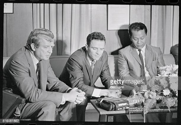Gen. Charles A. Lindbergh , internationally known conservationalist, with his son Jon , an oceanographer from Seattle, and Jesus Alvarez of the...
