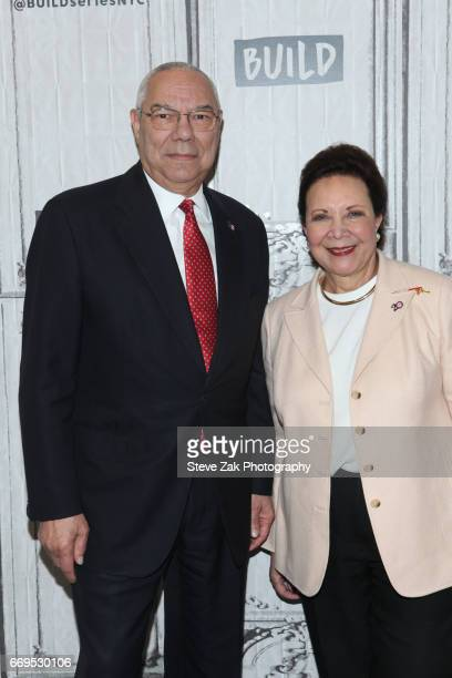 Gen Colin Powell and Alma Powell attend Build Series to discuss their newest mission at Build Studio on April 17 2017 in New York City