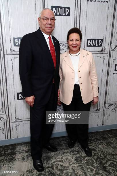 Gen Colin Powell and wife Alma Powell discuss their newest mission at Build Studio on April 17 2017 in New York City