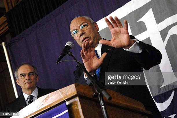 Gen. Colin Powell announces a major gift to The City College of New York and the formation of an Advisory Board for the Colin Powell Center for...