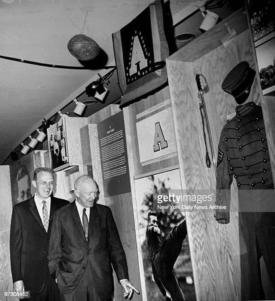 Gen Dwight Eisenhower and John Rosenkrans tour the Gallery of Modern Art in Columbus Circle