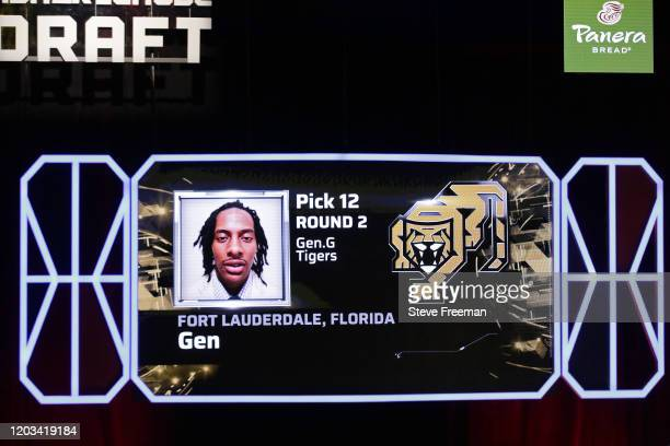 Gen gets picked during the NBA 2K League Draft on February 22 2020 at Terminal 5 in New York New York NOTE TO USER User expressly acknowledges and...