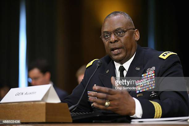 Gen. Lloyd Austin III, commander of U.S. Central Command, testifies before the Senate Armed Services Committee about the ongoing U.S. Military...