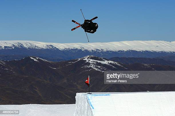 Gen Sasaki of Japan competes in the FIS Freestyle Ski World Cup Slopestyle Qualification during the Winter Games NZ at Cardrona Alpine Resort on...