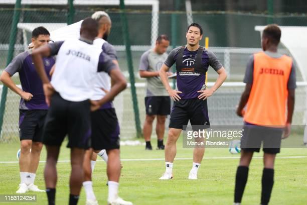 Gen Shoji during a Toulouse FC Training session during Toulouse training session on July 1 2019 in Toulouse France