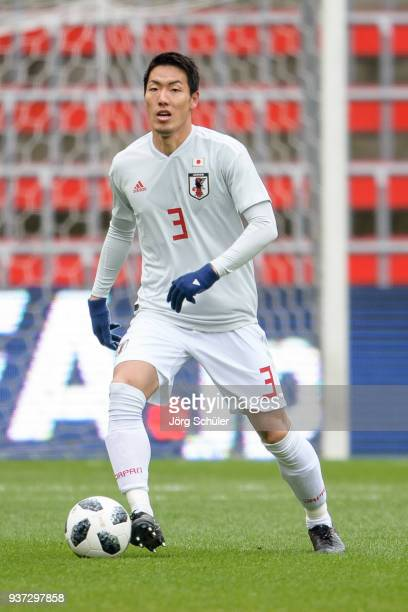 Gen Shoji of Japan during the International friendly match between Japan and Mali at the Stade de Sclessin on March 23 2018 in Liege Belgium
