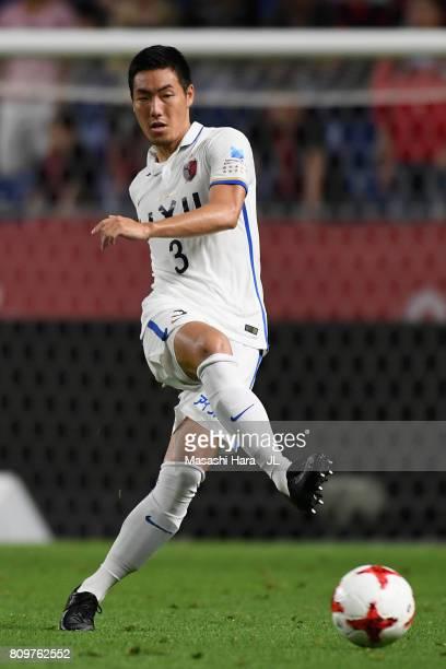 Gen Shoji of Kashima Antlers in actoin during the JLeague J1 match between Gamba Osaka and Kashima Antlers at Suita City Football Stadium on July 5...