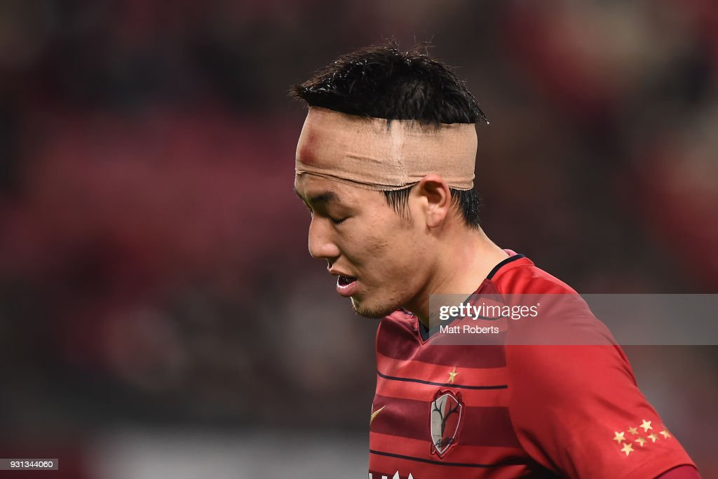 Gen Shoji #3 of Kashima Antlers looks dejected after the AFC Champions League Group H match between Kashima Antlers and Sydney FC at Kashima Soccer Stadium on March 13, 2018 in Kashima, Ibaraki, Japan.
