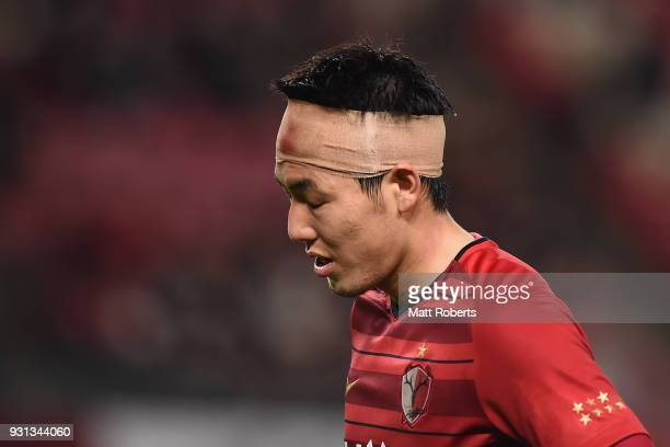 Gen Shoji of Kashima Antlers looks dejected after the AFC Champions League Group H match between Kashima Antlers and Sydney FC at Kashima Soccer...
